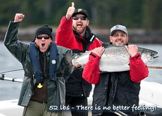 52 lbs - There is no better feeling! Another epic battle with a 'freight train' of a Chinook salmon ends in victory.
