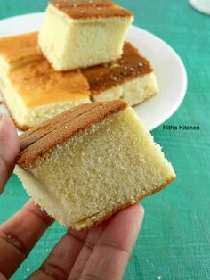 An easy to make vanilla sponge cake using hot milk cake --> Hot Milk Cake Recipe with step by step pictures!
