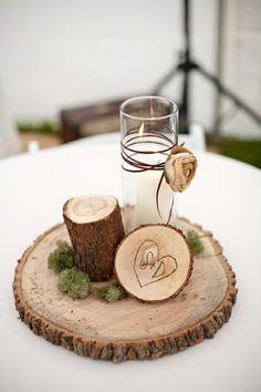 Cute Center Piece for Winter Wedding.