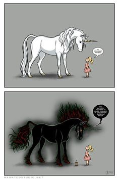 Unicorns Don't Sparkle by ~HaloGhost on deviantART
