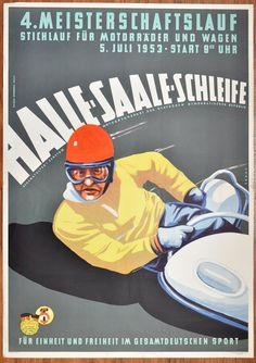 4. Meisterschaftslauf für Motorräder und Wagen 1953 Gesamtansicht [Zeitzer Straße 4]