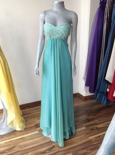Turquoise Dress - Klädsel Couture Designs