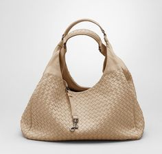 f3ffa6b7417f Bottega Veneta Walnut Intrecciato Nappa Campana Bag Purse Organization
