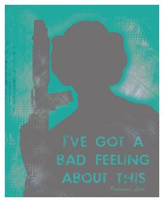 Star Wars Poster Princess Leia Quote  11x14 by PurpleCowPosters, $19.00