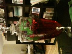 Holiday punch with an ice wreath
