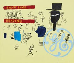 Jean-Michel Basquiat and Andy Warhol, GE Short Line & Reading