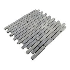 Natural Stone Sticks Random Sized Mosaic Tile Tile in Grey
