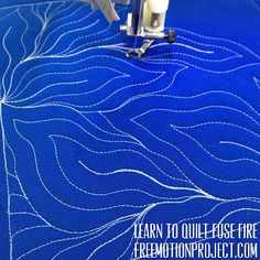 Learn how to machine quilting Fuse Fire in a free video with Leah Day - http://freemotionquilting.blogspot.com/2016/02/machine-quilt-fuse-fire-460.html