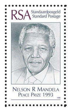 Nelson Mandelastamp on one of South Africa's Nobel peace prize winners and President of SA post apartheid. Union Of South Africa, Nobel Prize Winners, Nobel Peace Prize, Out Of Africa, Handmade Books, African History, World History, Postage Stamps, Nelson Mandela