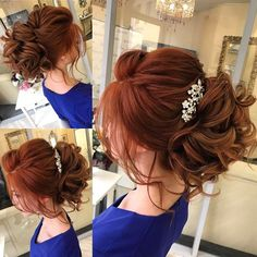 From messy loose updo ,side swept hairstyle to the classic straight. Wedding Hairstyle Ideas For the Brides That Are Perfect For Every Season,half up hair Hairstyles With Bangs, Straight Hairstyles, Cool Hairstyles, Hairstyle Ideas, Elegant Wedding Hair, Wedding Hair And Makeup, Straight Wedding Hair, Red Hair Brides, Medium Hair Styles
