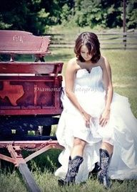 rustic bride ...