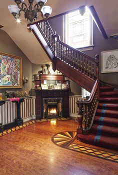 After a gut renovation, this former Victorian apartment complex gets a modern, maximalist look. Victorian Home Decor, Victorian Interiors, Victorian Design, Victorian Architecture, Victorian Fashion, Old Victorian Homes, Victorian Parlor, Bamboo Architecture, Victorian Farmhouse