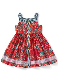 Children Clothing High Road Dress – Matilda Jane Clothing You are in the right place about Childr… Girls Frock Design, Baby Dress Design, Kids Frocks Design, Baby Frocks Designs, Kids Outfits Girls, Little Girl Dresses, Girl Outfits, Kids Dress Wear, Baby Girl Dress Patterns