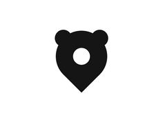 Bear pin pointer logo design mark by Alex Tass logo designer #Design Popular #Dribbble #shots