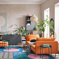 Decoración de interiores y exteriores, decora tu casa - HOLA Tiny Living Rooms, Ikea Living Room, Living Room Shop, Living Room Designs, Flexible Furniture, Dining Room Paint, Muebles Living, Living Room Inspiration, Ikea Inspiration