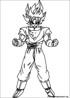 coloring page dragon ball z dragon ball z coloring pages