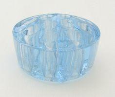 Vintage Blue Glass Flower Frog - Made In England.  www.englisholdschool.etsy.com  #blueglass #flowerfrog