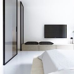 What an amazing bedroom space- minimal, interior, design