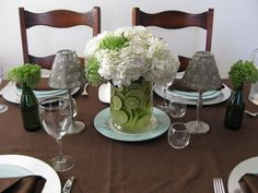 White Hydrangeas with Limes..so simple but sweet...