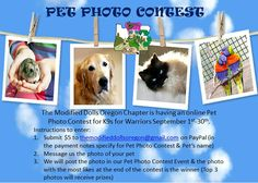Enter The Modified Dolls Oregon Chapter Chapter`s pet photo contest to benefit K9s For Warriors & you could win some cool prizes. ‪#‎ModifiedDolls‬ ‪#‎OregonDolls‬ ‪#‎Nonprofit‬ ‪#‎SupportingCharities‬ ‪#‎fundraising‬ ‪#‎PetPhotoContest‬ ‪#‎win‬ ‪#‎prizes‬