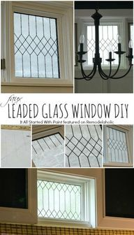 How to DIY Faux Leaded Glass Windows October 3, 2014 by Cass