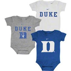 Duke Blue Devils Nike Newborn/Infant 3-Piece Creeper Set $33.99 http://www.fansedge.com/Duke-Blue-Devils-Nike-NewbornInfant-3-Piece-Creeper-Set-_-425152048_PD.html?social=pinterest_pfid66-07019