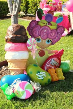 CANDY LAND BIRTHDAY PARTY via Kara's Party Ideas | KarasPartyIdeas.com #candyland #candy #land #party #ideas #cake #idea