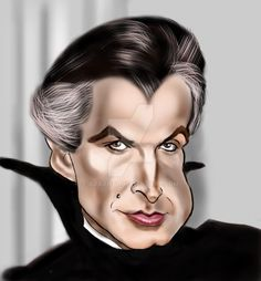 George Hamilton as Dracula by adavis57 on DeviantArt