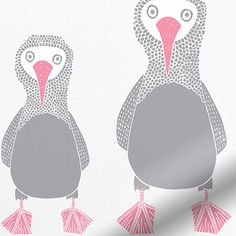 Booby Bird Bubblegum Blackout Roller Blind from Blinds 2go