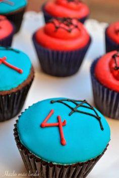 Cupcakes Hombre Araña #CupcakesSpiderman #HombreAraña