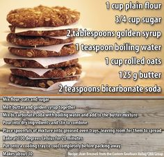 In honor of Anzac Day, FEMAIL has found the perfect classic Anzac biscuit (cookie) recipe that is chewy, sweet and super easy to make The recipe (above) is courtesy of Joan Breznell from the Country Women's Assocation Biscuit Recipe No Milk, Hardees Biscuit Recipe, Biscuit Dessert Recipe, Homemade Biscuits Recipe, Easy Anzac Biscuits, Buttery Biscuits, Tea Biscuits, Philsbury Biscuit Recipes, Perfect Food