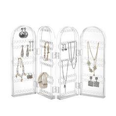 Beautify Foldable Acrylic Earring Holder Stand Jewellery Display Organiser