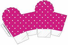 Poá Rosa e Verde – Kit Completo com molduras para convites, rótulos para guloseimas, lembrancinhas e imagens! |Fazendo a Nossa Festa