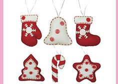 Christmas Ornament DIY kit, Felt Christmas Ornament, Kids DIY kit, Sewing craft, Christmas craft kits -- (paid link) Check out the image by visiting the link. Toy Craft, Craft Kits, Diy Kits, Felt Christmas Ornaments, Diy Christmas Ornaments, Christmas Decorations, Felt Kids, Felt Applique, Diy For Kids