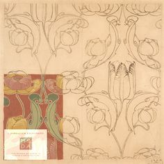Design by Archibald Knox, 1894/1900. Museum of Domestic Design & Architecture, Middlesex University, CC BY