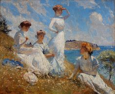 Frank Weston Benson - Summer [1900]  Frank Weston Benson (Salem, Massachusetts, March 24, 1862 - Salem, November 15, 1951) was an American artist.     [Oil on canvas, 36.125 x 44.5 inches]