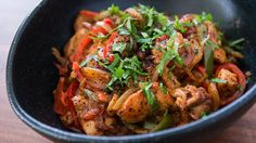 This lemon chili chicken recipe will make you pucker and smolder with garlicky chicken and fiery vegetables. Get this chicken stir fry recipe at PBS Food. Lemon Entree Recipes, Asian Recipes, Dinner Recipes, Healthy Recipes, Easy Recipes, Healthy Food, Easy Weeknight Meals, Easy Meals, Pbs Food