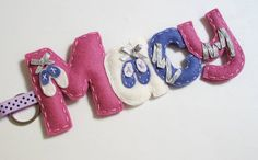 Ballet Shoes Alphabet full name 4 letters by InaSudjana on Etsy