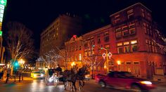 historic downtown bethlehem pa 60 miles from philadelphia at christmas christmas is