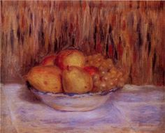 Still Life with Pears and Grapes - Pierre-Auguste Renoir
