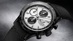 The new Brellum Pandial Black DLC Chronometer watch with images, price, background, specs, & our expert analysis. Watches, Accessories, Black, Jet, Products, Wristwatches, Black People, Clock, Gadget