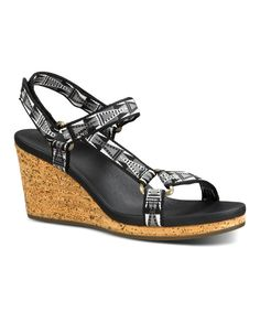 Look at this Black Geometric Arrabelle Universal Sandal on #zulily today!