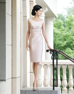 Buy scoop neckline short mother of the bride pant suits from WeddingDressUs.com