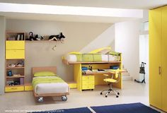 Future Dream House Design: Kids room yellow colors