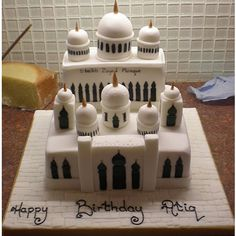 Building+Cakes | buildings rooms mosque cake 7