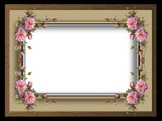 """""""Flower and Glass Border Frame"""" by collect-and-creat.deviantart.com on @DeviantArt"""