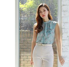 Korean Women`s Fashion Shopping Mall, Styleonme. Girl Outfits, Casual Outfits, Look Formal, Crop Top Shirts, Outfit Goals, Casual Elegance, Korean Women, Everyday Outfits, Asian Fashion
