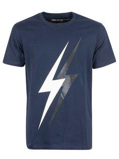 Neil Barrett Printed Thunder T-shirt In C Neil Barrett, Thunder, Mens Fashion, Printed, Mens Tops, Cotton, T Shirt, Shopping, Clothes