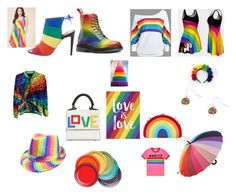 """""""Vote Yes. Love is Love."""" by saffron-rose on Polyvore featuring Aquazzura, Les Petits Joueurs, BCBGMAXAZRIA, Gucci, Milly, Retrolicious and Le Creuset"""