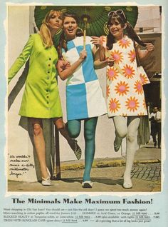 """ Gamble Aldens - 1968 (LOVE these. Especially that green dress with the multi-color buttons) """